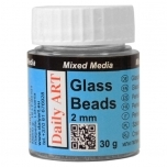 Glass Beads 2.0 mm, jar 25ml MINI PVC DA17801000